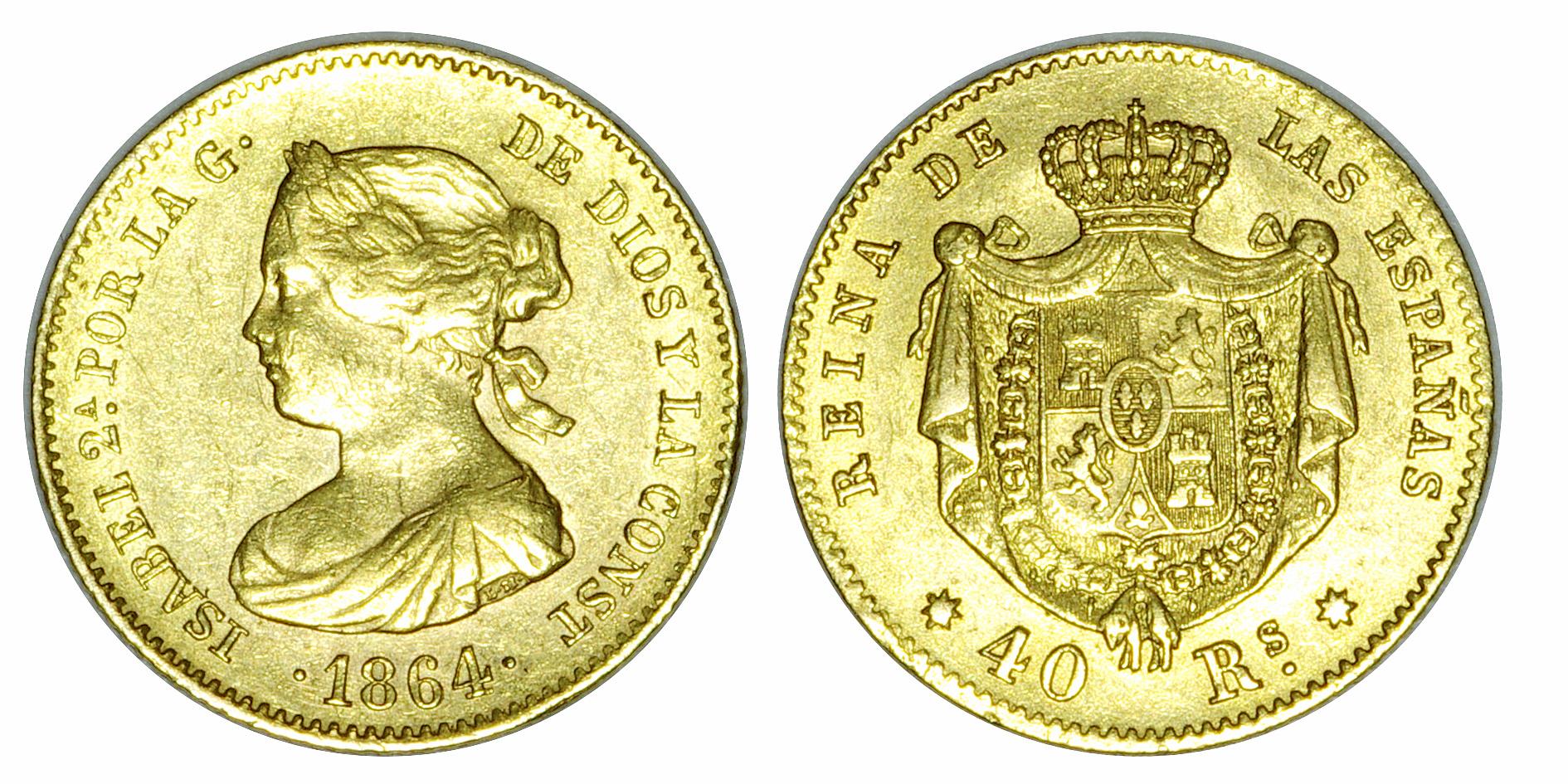 40 Reales 1864 Sevilla