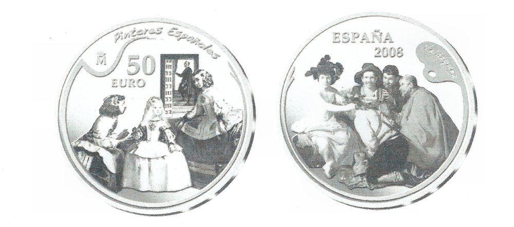 50 euros vel zquez 2008 280 00 numism tica peir monedas libros y cat logos billetes y. Black Bedroom Furniture Sets. Home Design Ideas